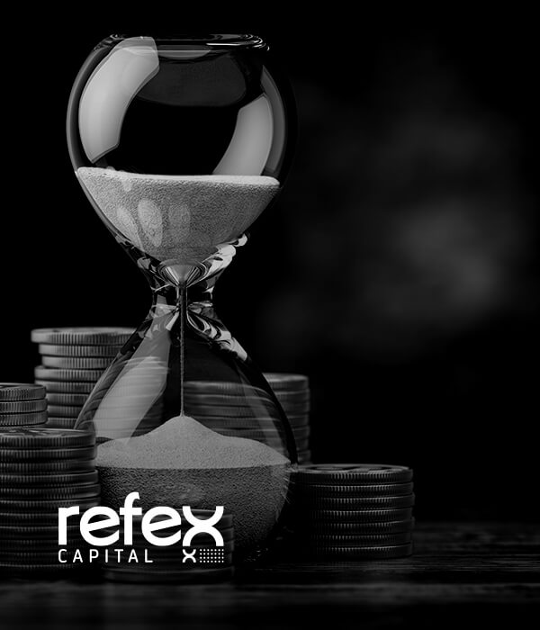 Refex Logo With Hour Glass